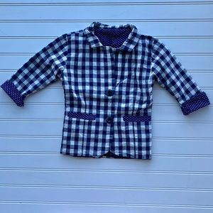Other - Blue and White Checkered Jacket